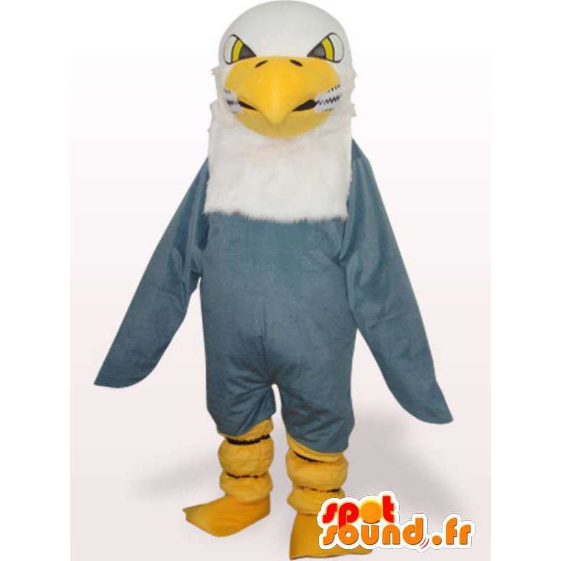 A golden eagle mascot - gray raptor costume - MASFR00973 - Mascot of birds