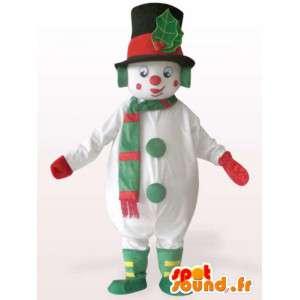 Mascot de un gran muñeco de nieve - Traje de felpa - MASFR001153 - Mascotas humanas