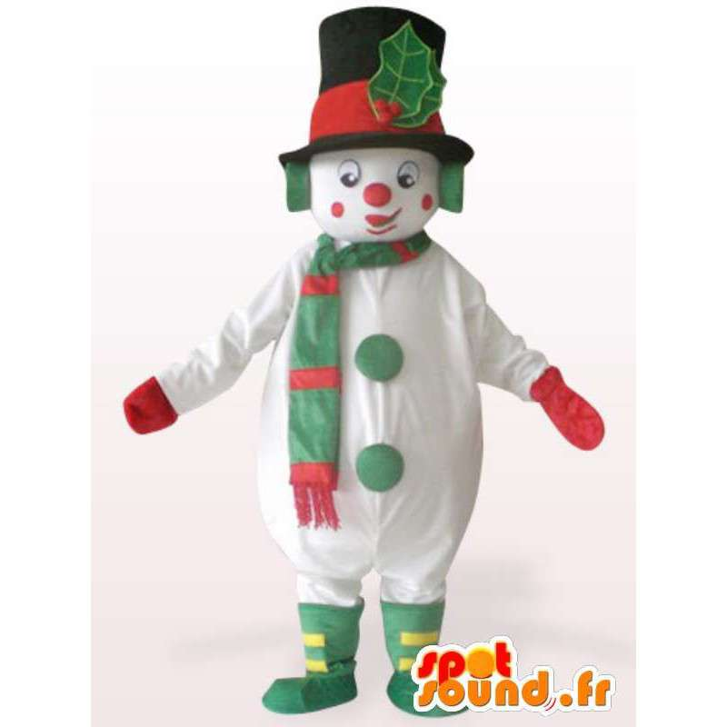 Mascot of a large snowman - Disguise stuffed - MASFR001153 - Human mascots