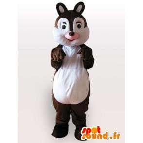 Μασκότ του ένα χαριτωμένο σκίουρο - ένα καφέ σκίουρος κοστούμι - MASFR001120 - μασκότ σκίουρος