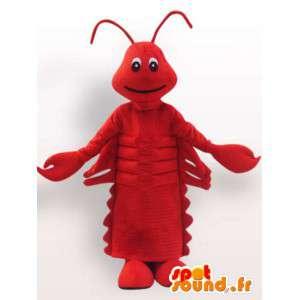 Rolig röd kräftmaskot - Kräftdjurdräkt - Spotsound maskot