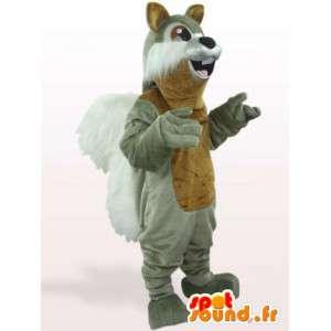 Mascota de ardilla gris - animal bosque Disfraz