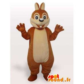 Funny squirrel mascot - Disguise stuffed squirrel - MASFR001066 - Mascots squirrel