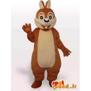 Mascotte d'écureuil rigolo - Déguisement écureuil en peluche - MASFR001066 - Mascottes Ecureuil
