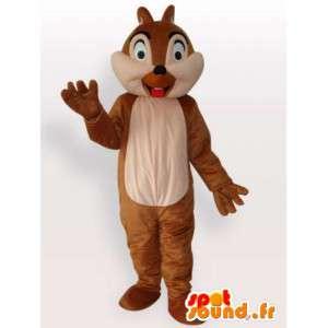 Mascot esquilo para fora sua língua - Disfarce todos os tamanhos - MASFR001112 - mascotes Squirrel