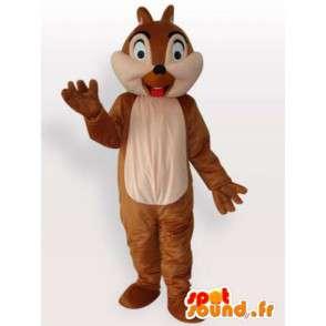 Mascotte d'écureuil sortant sa langue - Déguisement toutes tailles - MASFR001112 - Mascottes Ecureuil