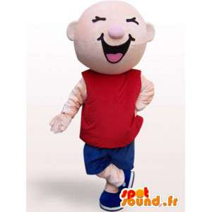 Mascot esportes cara - Traje Plush - MASFR001125 - Mascotes homem