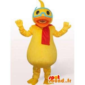 Duck Mascot z okularami - kaczka kostium