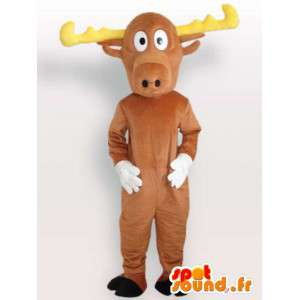 Cervo con corna - Mascot peluche costume cervo - MASFR00956 - Addio al nubilato di mascotte e DOE
