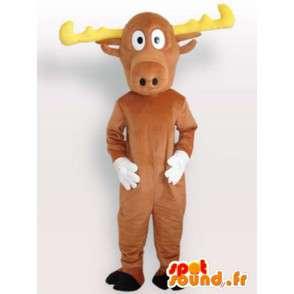 Mascotte de cerf avec bois - Déguisement de cerf en peluche - MASFR00956 - Mascottes Cerf et Biche