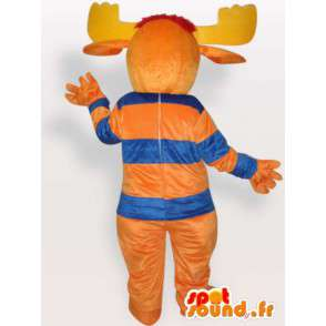 Deer mascot orange - forest animal Disguise - MASFR001148 - Mascots stag and DOE