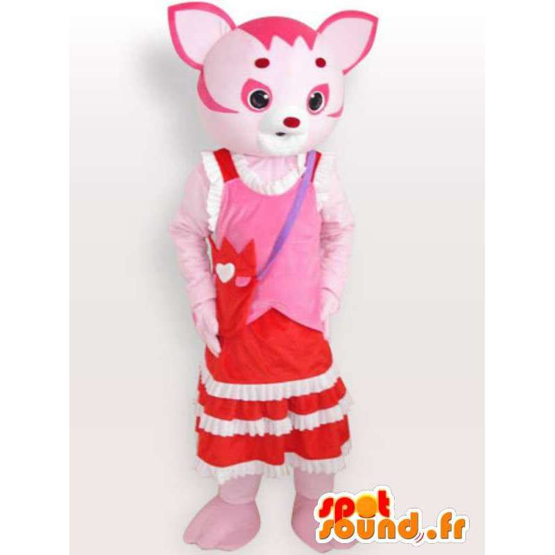 Mascotte de chat rose - Déguisement d'animal domestique - MASFR00970 - Mascottes de chat