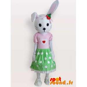 Mascotte del gatto vestito - costume vestito tutte le dimensioni - MASFR001101 - Mascotte gatto