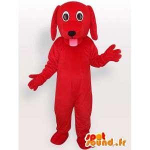 Maskot hund med tungen hengende - Dog Kostymer