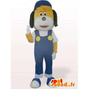 Handyman hond mascotte - kostuum met jumpsuit - MASFR00960 - Dog Mascottes