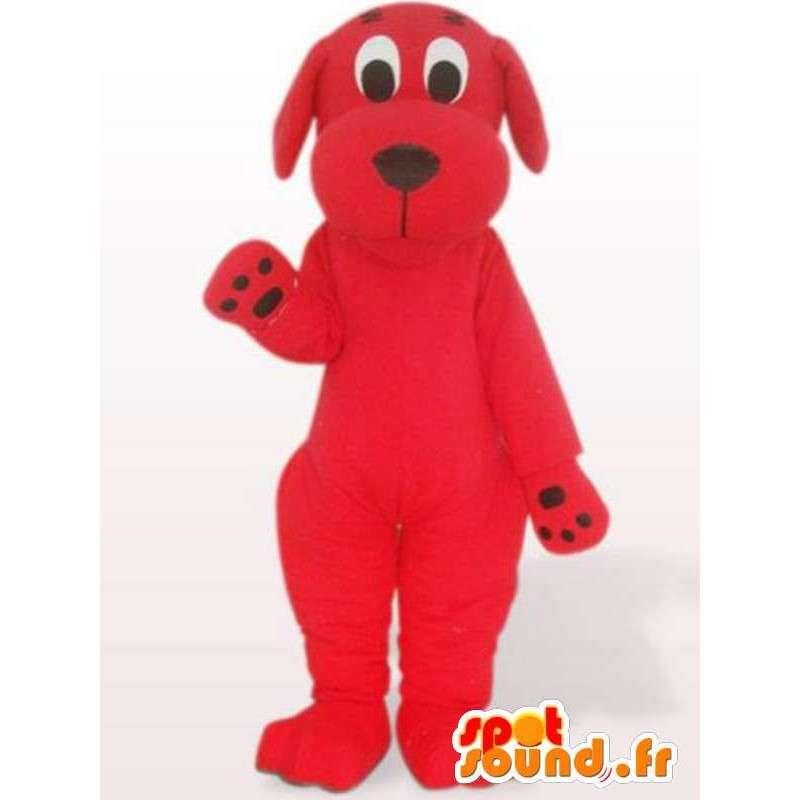 κόκκινο μασκότ σκυλιών - μεταμφίεση γεμιστά σκύλο - MASFR00934 - Μασκότ Dog