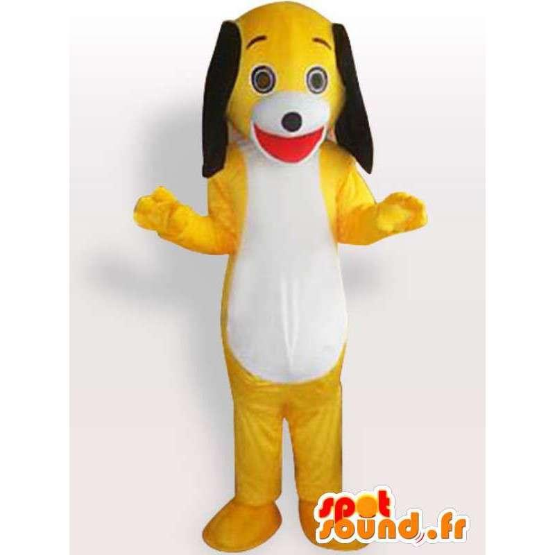 犬のマスコットぬいぐるみ - 大きな耳を持つ衣装 - MASFR00906 - 犬マスコット