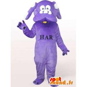 μοβ μασκότ σκυλιών - κοστούμια σκυλιών όλα τα μεγέθη