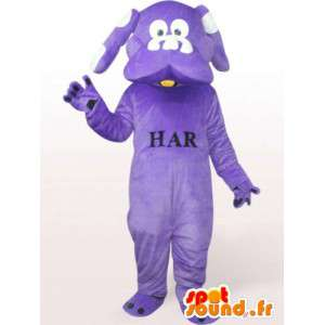 Mascotte de chien violet - Déguisement de chien toutes tailles