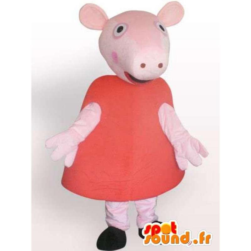 Mascotte de cochon en robe - Déguisement d'animal de ferme - MASFR00932 - Mascottes Cochon