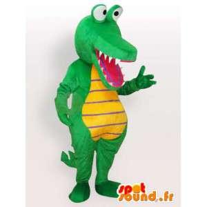 Krokotiili maskotti - vihreä eläin puku
