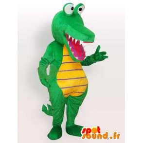 Krokotiili maskotti - vihreä eläin puku - MASFR001144 - maskotti krokotiilejä