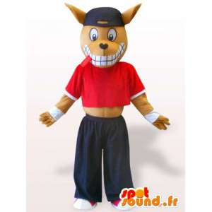 Sports doberman maskot - Hundedragt - Spotsound maskot
