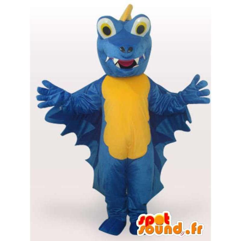 ブルードラゴンのマスコット - ドラゴン衣装テディ - MASFR00927 - ドラゴンマスコット