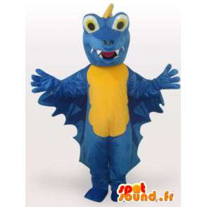 Blauer Drache Maskottchen - Disguise Drachen Plüschtier - MASFR00927 - Dragon-Maskottchen