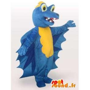 Mascota azul del dragón - dragón Disfraz de peluche de juguete - MASFR00927 - Mascota del dragón