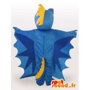 Blue Dragon mascotte - draakkostuum teddy - MASFR00927 - Dragon Mascot