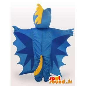Mascotte de dragon bleu - Déguisement de dragon en peluche - MASFR00927 - Mascotte de dragon