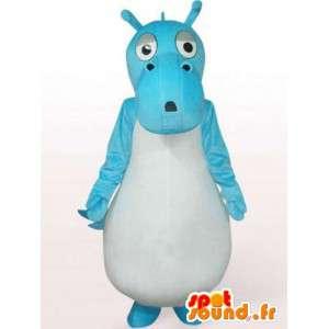Mascot turquoise dragon - dragon costume