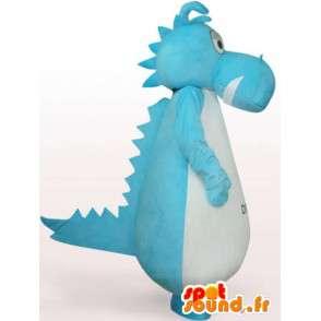 Mascotte de dragon couleur turquoise - Déguisement dragon - MASFR001069 - Mascotte de dragon