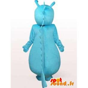 Turquoise dragon mascotte - draakkostuum - MASFR001069 - Dragon Mascot