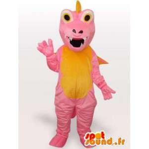 ピンクのドラゴンマスコット-ファンタジーキャラクターコスチューム-MASFR001152-ドラゴンマスコット