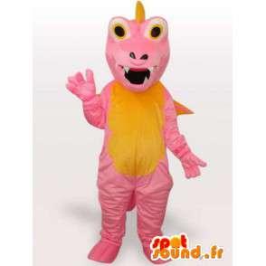 Ροζ Δράκος μασκότ - φορεσιά φανταστικό χαρακτήρα - MASFR001152 - Δράκος μασκότ