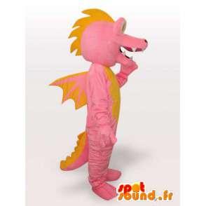 Pink dragon mascot - Disguise imaginary character - MASFR001152 - Dragon mascot