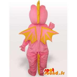 Mascotte de dragon rose - Déguisement de personnage imaginaire - MASFR001152 - Mascotte de dragon