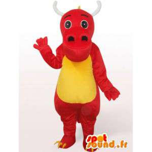 赤いドラゴンのマスコット-赤い動物の変装-MASFR001091-ドラゴンのマスコット