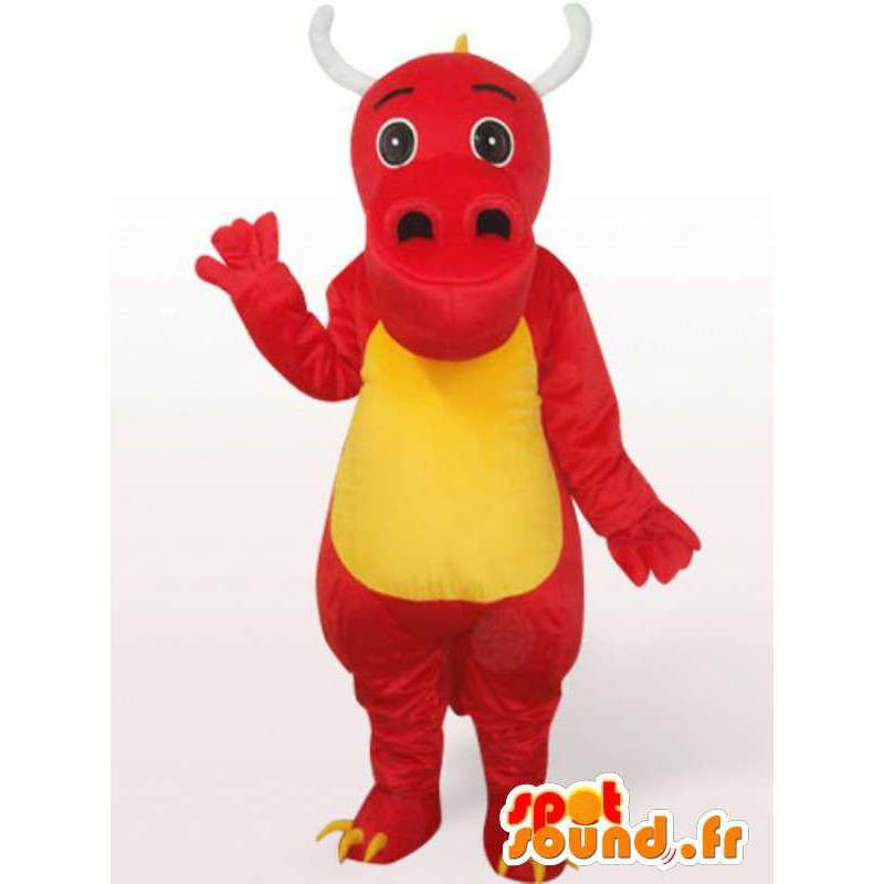 Red dragon mascot - Disguise animal red - MASFR001091 - Dragon mascot