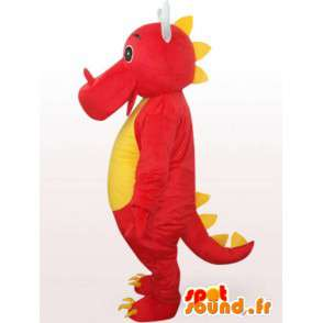 Czerwony smok maskotka - Red Animal Disguise - MASFR001091 - smok Mascot