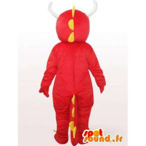 Red Dragon Mascot - Red Animal Disguise - MASFR001091 - dragon maskot