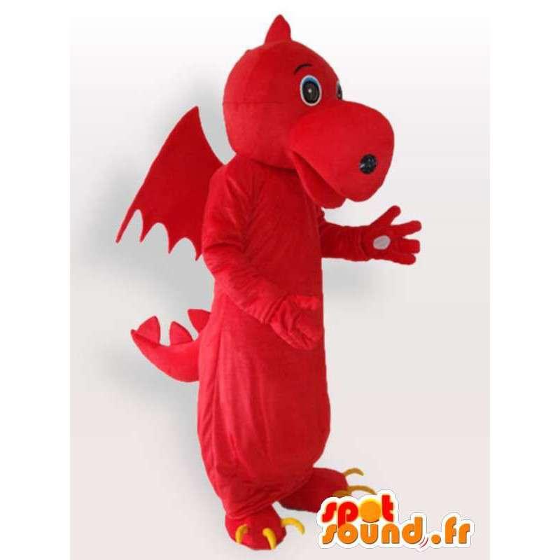 Red dragon mascotte - immaginario animale Disguise - MASFR001123 - Mascotte drago