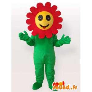 Blommamaskot med röda kronblad - Förklädnad av växter -