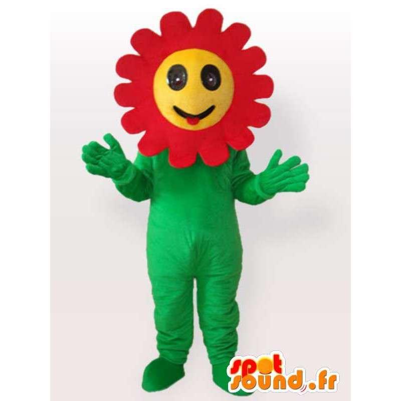 Mascotte de fleur aux pétales rouges - Déguisement de plantes - MASFR001077 - Mascottes de plantes