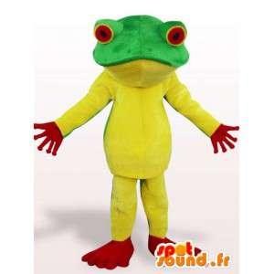 黄色いカエルのマスコット-黄色い動物の衣装-MASFR001146-カエルのマスコット