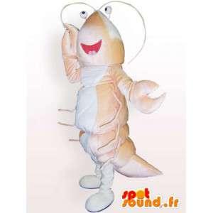 Rosa hummermaskot - Skaldjursklädsel - Spotsound maskot