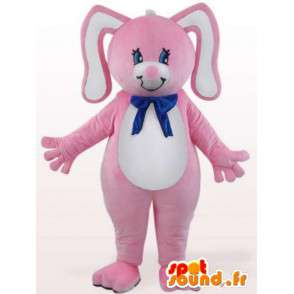 Rabbit mascot node blue - costume rodent - MASFR001099 - Rabbit mascot