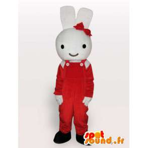 Królik maskotka z czerwonym dziobem - gryzoń Disguise - MASFR001134 - króliki Mascot